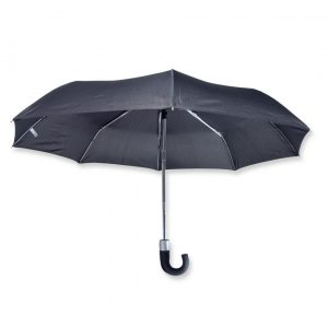 Alu-Light Pocket Umbrella with hook handle – 1005-01 (black)