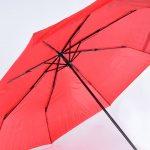 So sieht Art. 1009 in rot aus; optional ist dieser Regenschirm mit eigenem Firmenlogo bedruckbar.