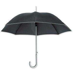 Dieser reflektierender Regenschirm mit dem eigenen Firmenlogo oder Werbeslogan bedruckbar.