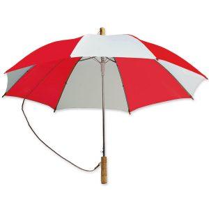 Dieser Schulterschirm lässt sich durch ein zusätzliches Band bequem tragen und ist mit eigenem Logo ein idealer Werbeträger.