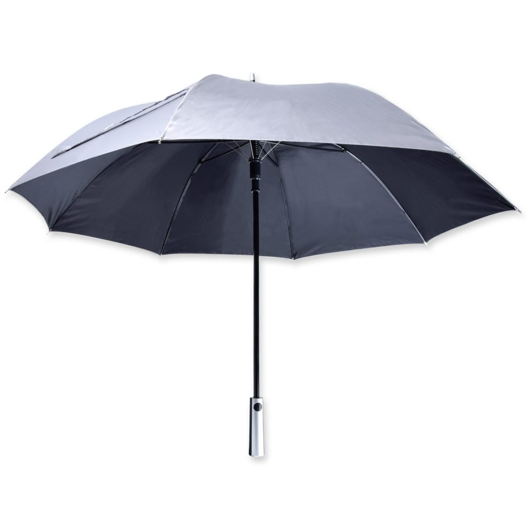 Midsize-Regular Umbrella im Metal Optic – 1032-84 (silver/black)
