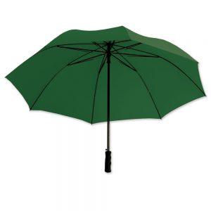 Dieser Schirm kann mit eigenem Logo bedruckt werden und ist ein ausgefallenes Werbegeschenk für Messen und auch Kunden.