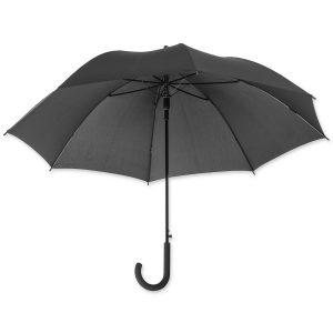 Dieser elegante Schirm kann mit eigenem Logo bedruckt werden und wird vor allem bei Hotels als Leihschirm eingesetzt.