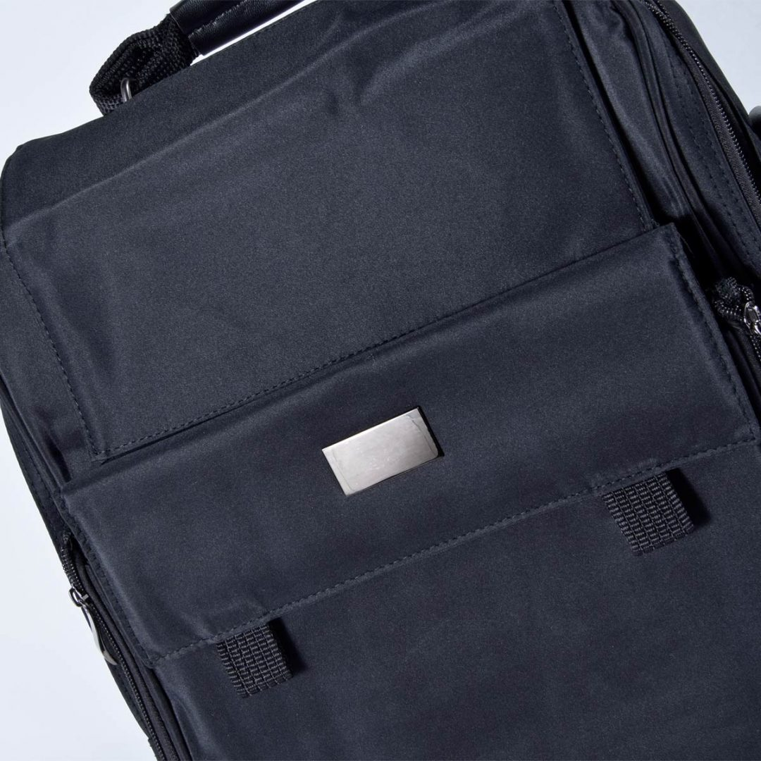 Notebook Bag – Backpack and Bag in one – 2001-98 (ca. 33 x 36 x 12 cm, black)