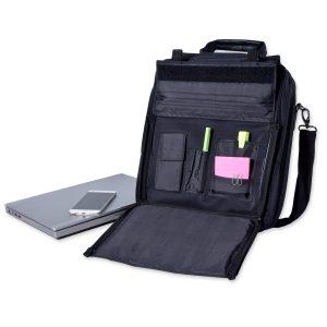 Laptoptasche und Rucksack in einem, ideal als innovatives Werbegeschenk für Kunden oder auf Messen.
