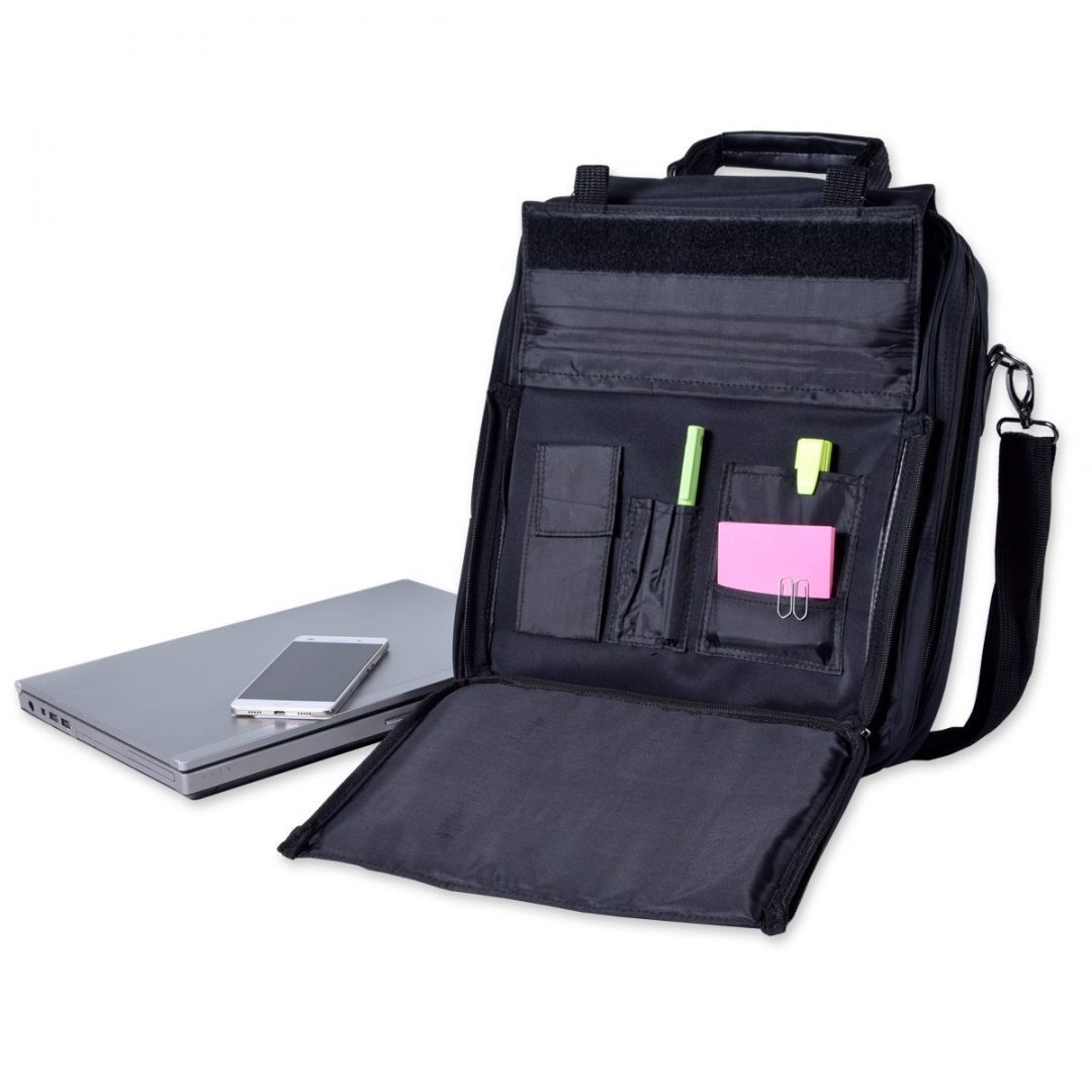 Notebook Bag – 8808-01 (approx. 33 x 36 x 12 cm, black)