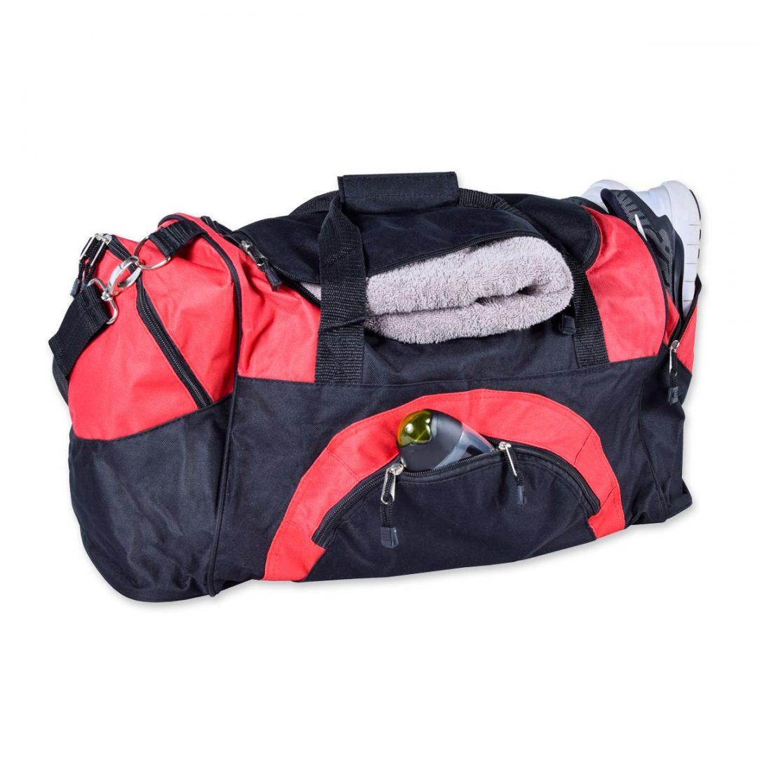 Sports/Travel Bag – 2005-74 (approx. 62 x 31 x 33 cm, black/red)