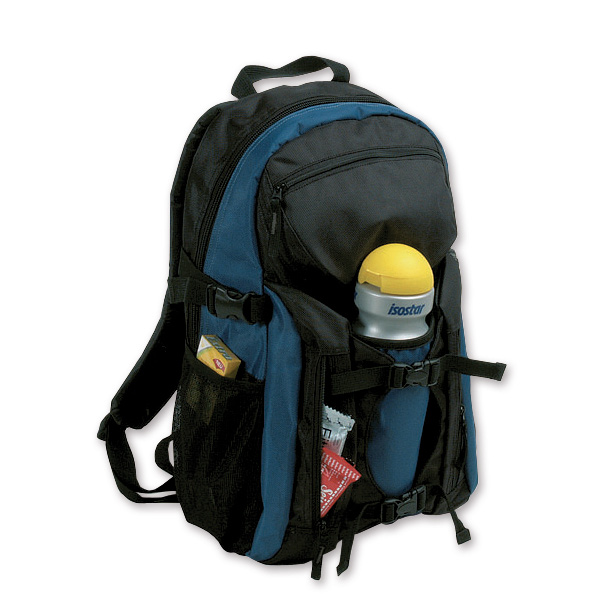 Promotional Backpack for travel agencies – hiking backpack – 2006-75 (approx. 28 x 47 x 16 cm, blue/black)