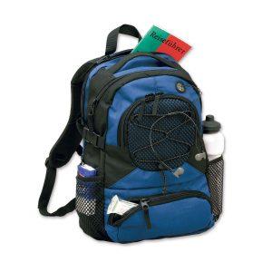 Sportlicher Rucksack mit eigenem Logo als Werbegeschenk.