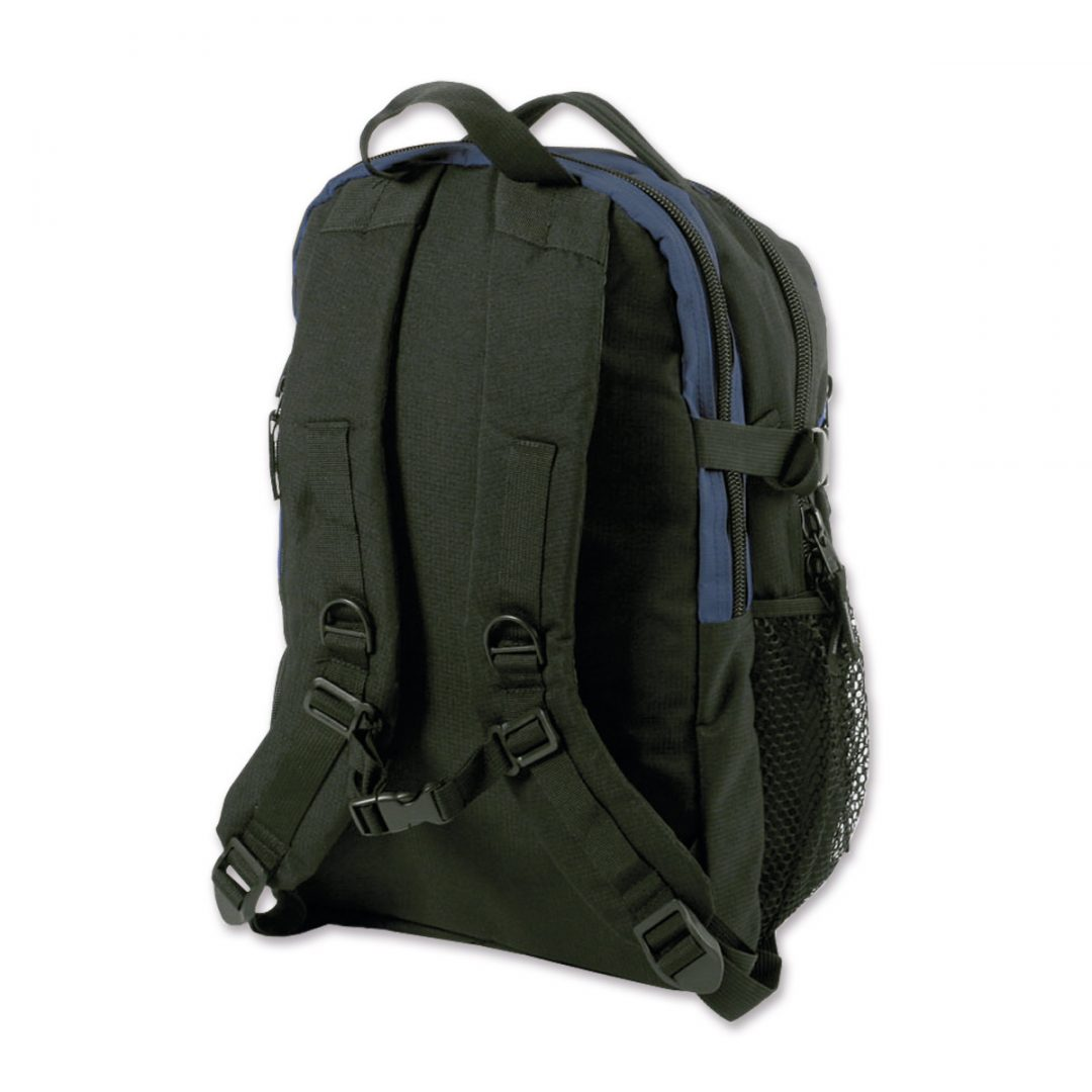 Casual promotion Backpack – 2007-75 (approx. 29 x 44 x 18 cm, blue/black)