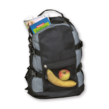 Backpack – 2010-76 (approx. 30 x 46 x 19 cm, grey/black)