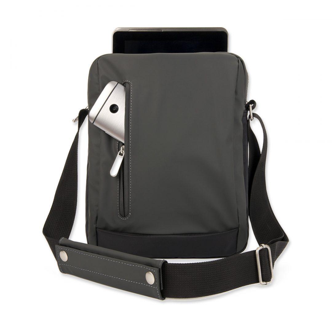 Shoulder Bag for Tablet PC – 2014-01 (approx. 22 x 29 x 5 cm, black)