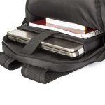 Hochwertige Rucksack mit eigener Werbung und Doming.