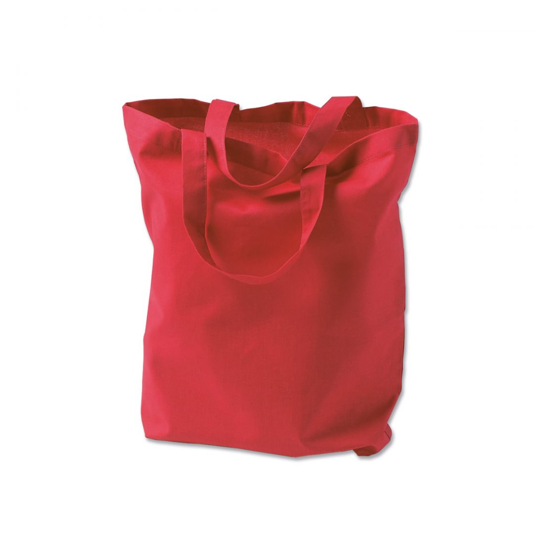 Cotton tote bag with short handles – 3001-04 (approx. 38 x 42 cm, handles approx. 35 cm, red)