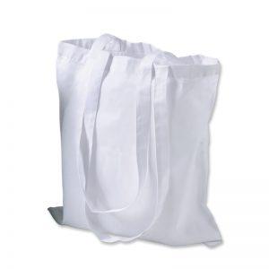 Bedruckbare Baumwolltragetasche in weiß für den Einzelhandel.