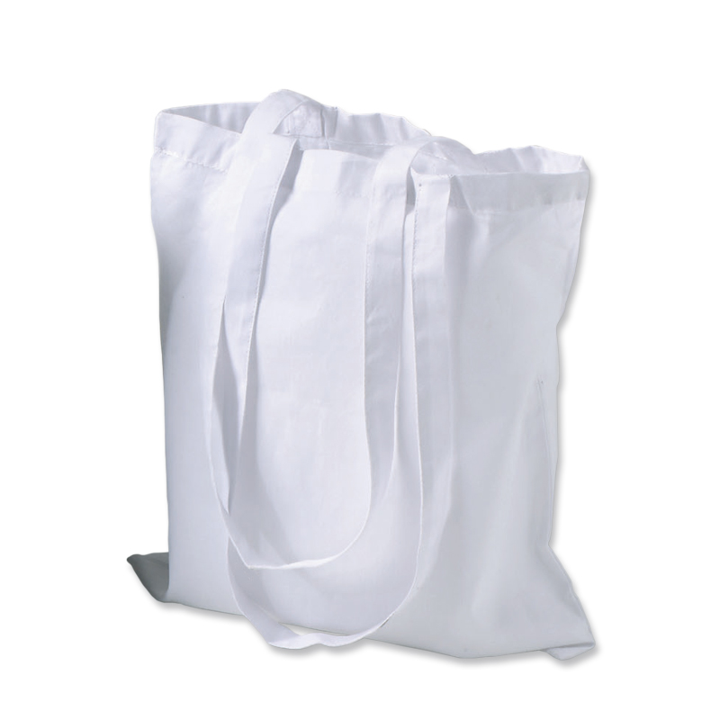 Cotton tote bag with long handles – 3002-08 (approx. 38 x 42 cm, handles approx. 70 cm, white)