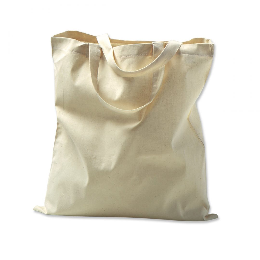 Natural cotton tote with short handles – 3004-18 (approx. 38 x 42 cm, handles approx. 35 cm, natural)