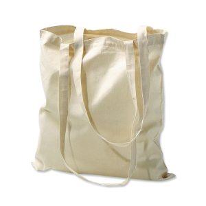 Baumwolltragetasche mit langen Henkeln neutral oder mit eigenem Aufdruck.