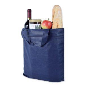 Klassische und robuste Einkaufstasche aus lebensmittelechtem Vlies.