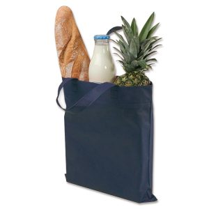 Nachhaltige Einkaufsbeutel auf Vlies, den man mehrfach nutzen kann.