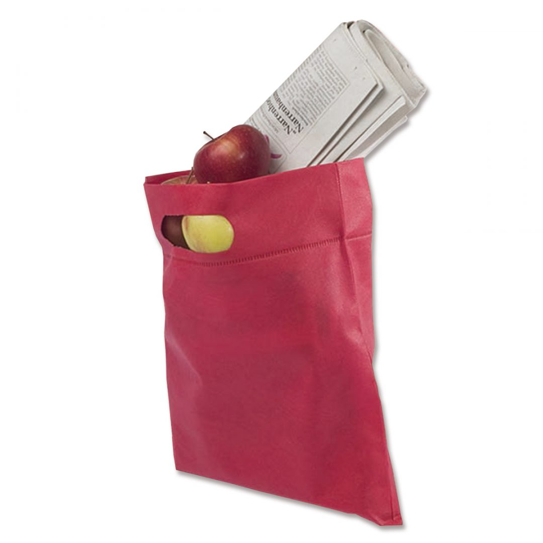 Packaging bag with Grip-hole – 4007-23 (approx. 28 x 33,5 cm, grip hole approx. 9 cm, poppy)