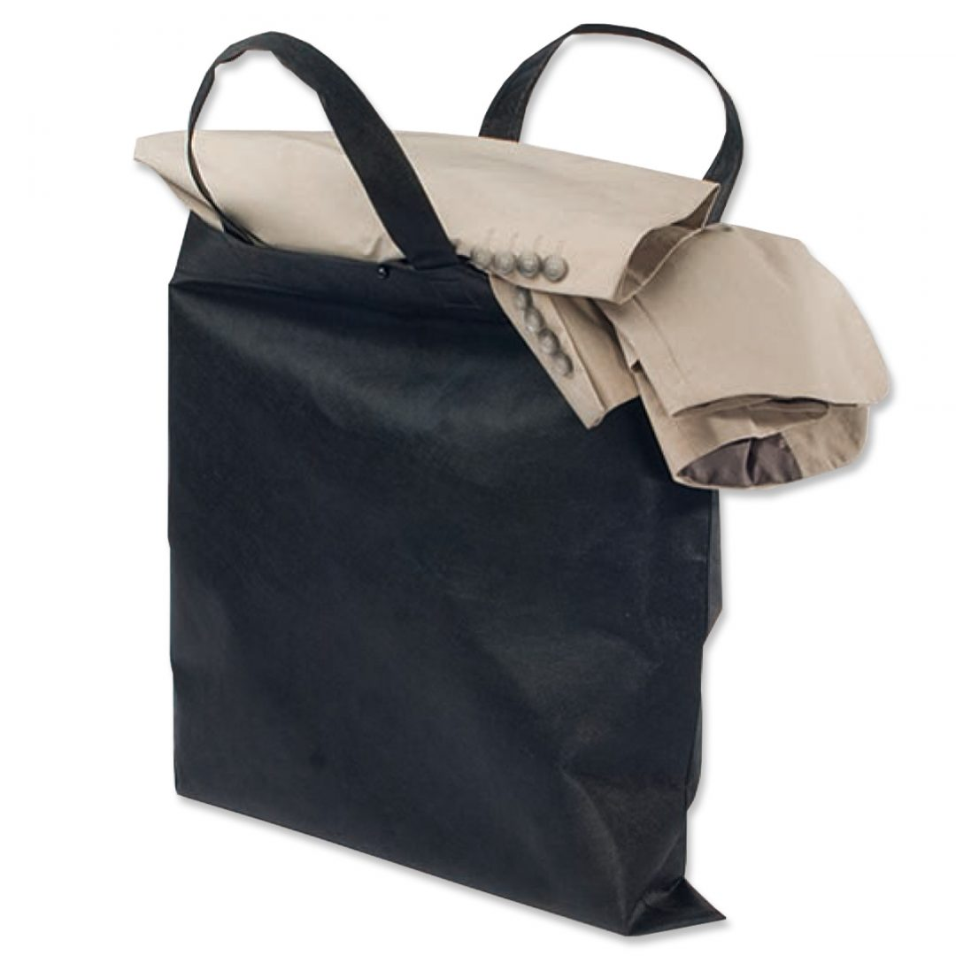 Square Shopping Bag – 4011-01 (approx. 50 x 50 cm, handles approx. 48 cm, black)