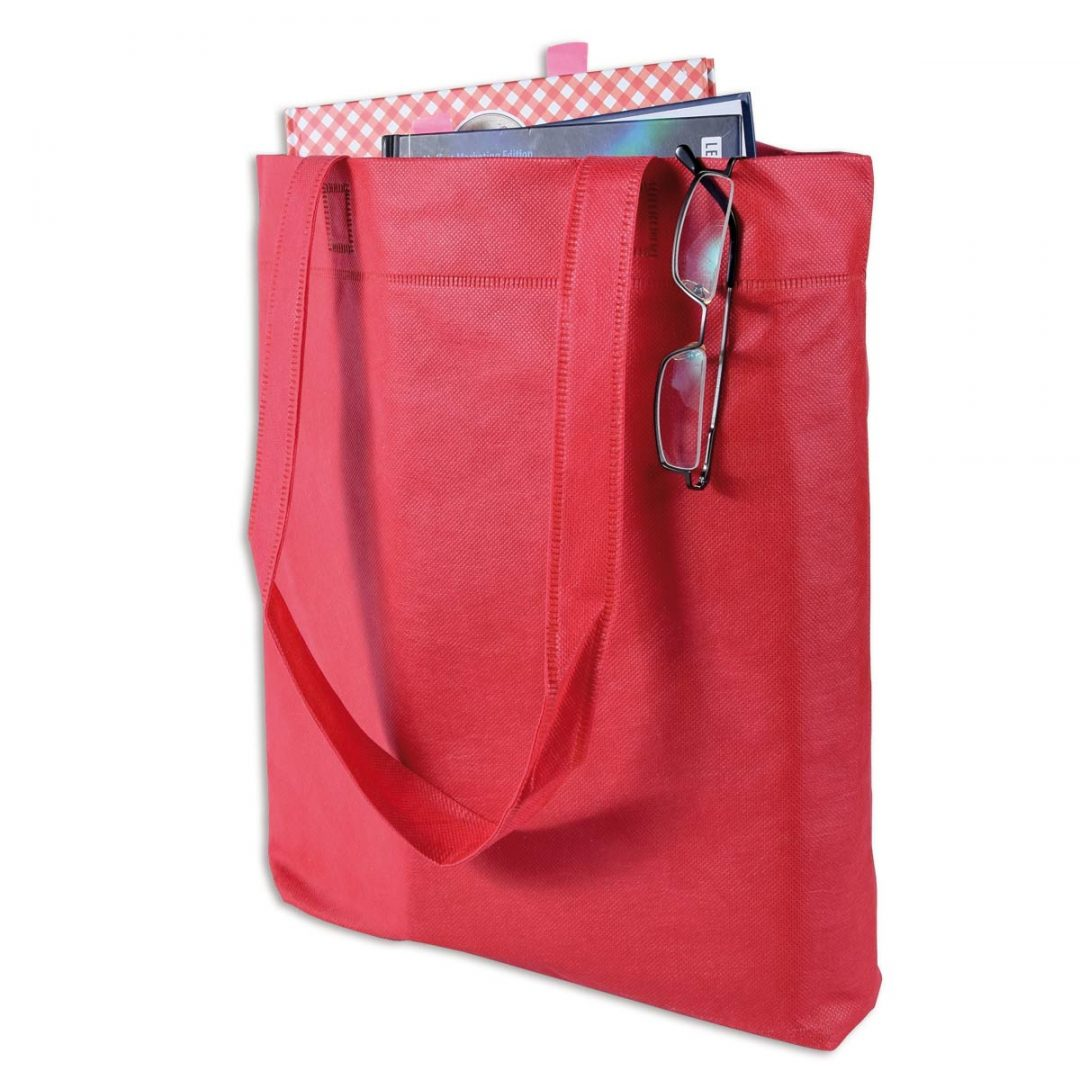 Long Handled Medium Shopping Tote – 4004-23 (approx. 38 x 42 cm, Handles approx. 70 cm, red poppy)