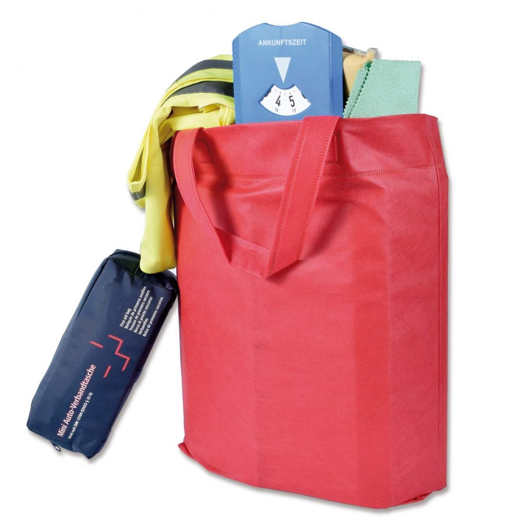 Bag with bottom Gusset – 4006-23 (ca. 38 x 42 cm, handles ca. 35 cm, poppy)