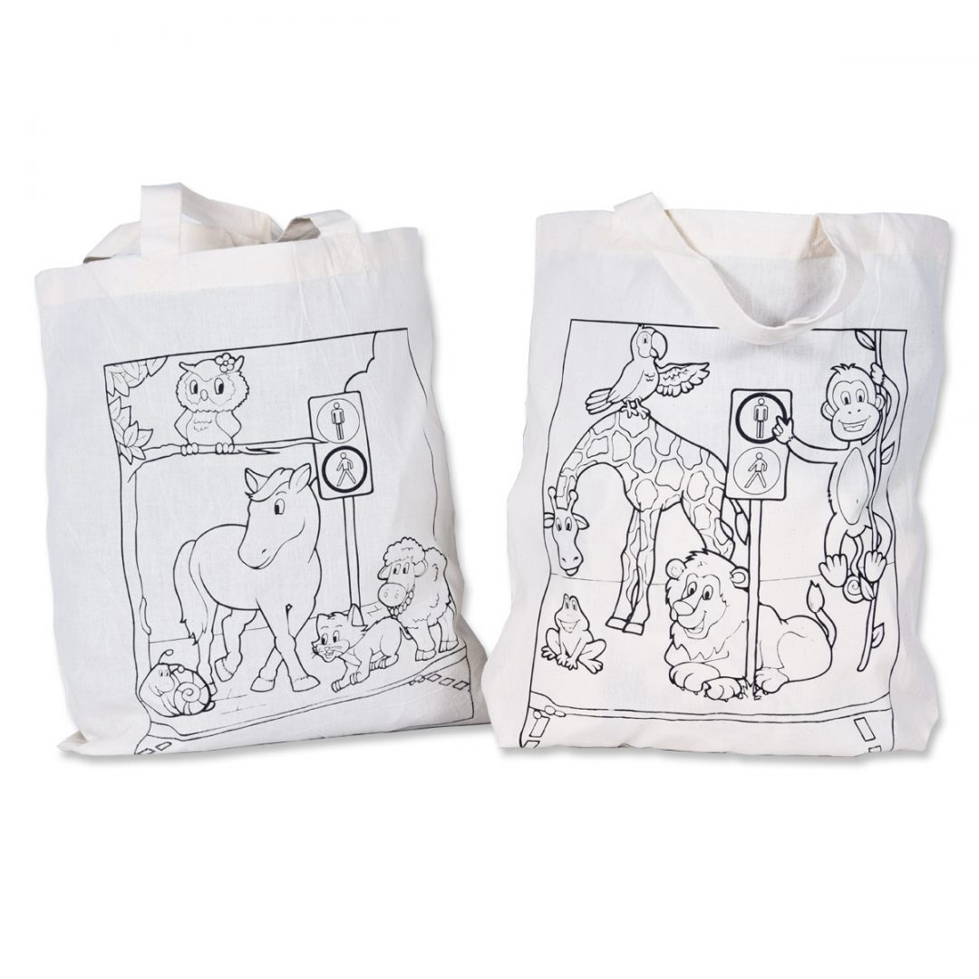 Cotton tote bag to colour – 5676 (approx. 38 x 42 cm, handles approx. 35 cm, natural)